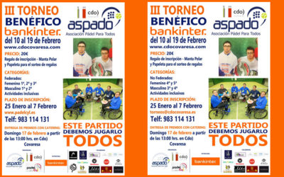 III Torneo Benéfico BANKITER por ASPADO