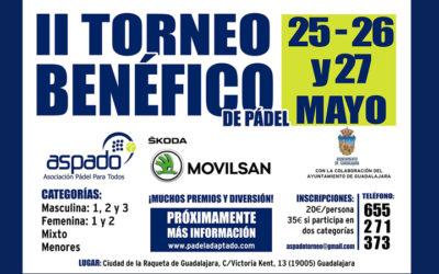 Cuadros de juego del II Torneo Benéfico de ASPADO en Guadalajara