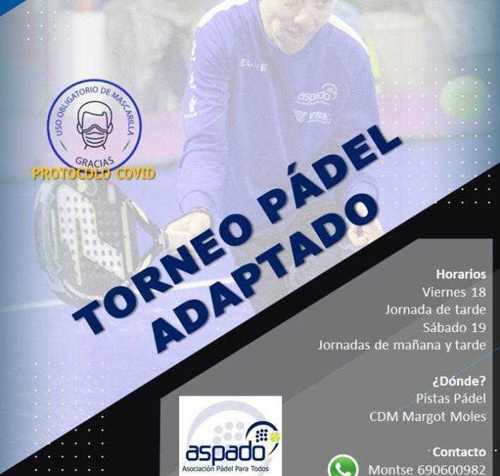 Torneo padel adaptado (modalidad pie)- Junio 2021